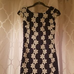 Lilly Pulitzer Barbara Dress in Navy and Gold